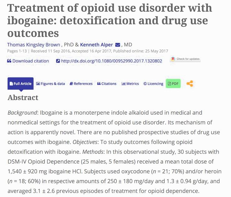 Ibogaine treatment & post traumatic stress disorder therapy in canada & mexico from the individual