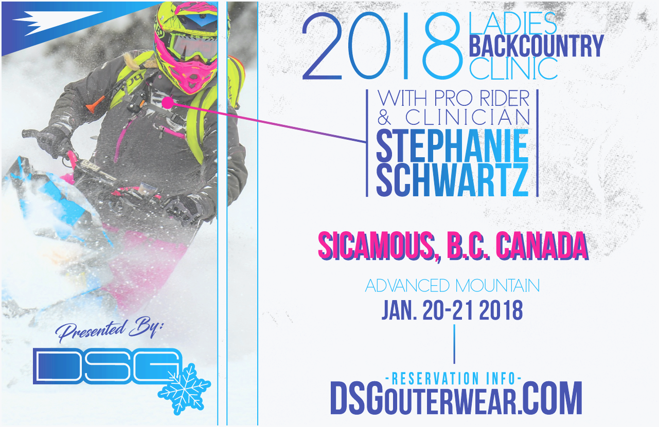 2018 ladies backcountry clinic advanced - sicamous, bc canada jan 20-21 - dsg outerwear to spread your