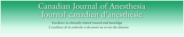 Canadian journal of anesthesia service for those Springer Science