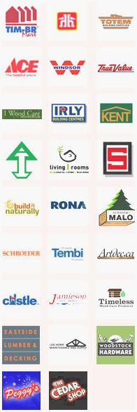 LifeTime can be found at many retail locations including TIM-BR Mart, Home Hardware, Totem Building Supplies, Ace Hardware Stores, Windsor Plywood, True Value, I Wood Care, IRLY Building Centres, Kent, Arctic Inland Building Products, Living Rooms, Slegg Lumber, Build It Naturally, Rona, Armand Malo, Schroeder Log Home Supply